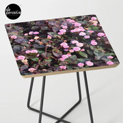 Pink Flowers Side Table