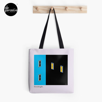 Goodnight my city illustration tote bag