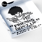 TV series inspired collection - Stranger things - FRIENDS DON'T LIE Acrylic Block