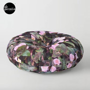 Pink Flowers Floor Pillow
