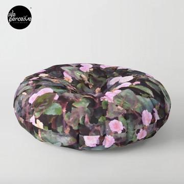 Pink Flowers Floor Pillow