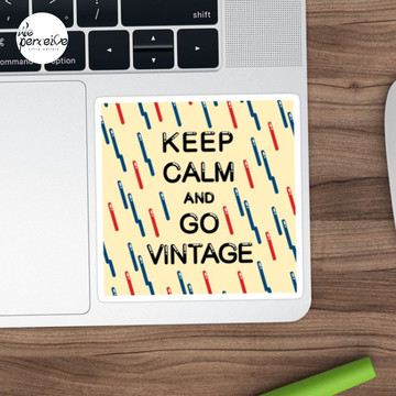 KEEP CALM AND GO VINTAGE Sticker