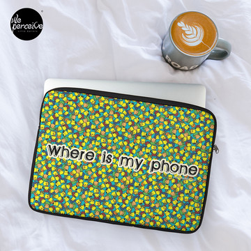 Welcome to SOCIAL MEDIA ERA - Where is my PHONE? Laptop Sleeve