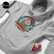 Bearded Dragon Deluxe Pomade Toddler Pullover Hoodie with Japanese Cartoon in heather grey