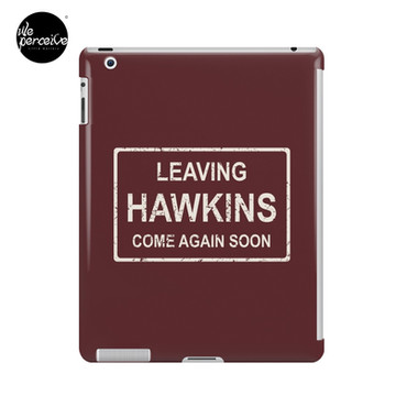 TV series inspired collection | Stranger things | LEAVING HAWKINS, COME AGAIN SOON | Dark red iPad Case & Skin