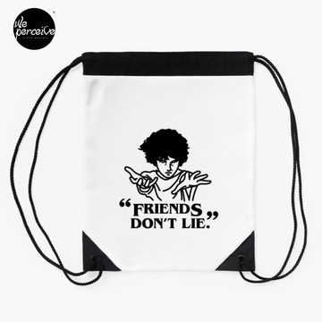 TV series inspired collection - Stranger things - FRIENDS DON'T LIE Drawstring Bag