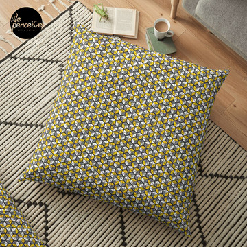 Geometric Cubes Floor Pillow