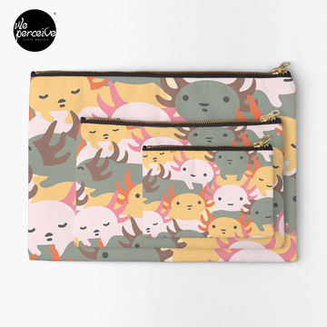 AXOLOTL WAVE - We are the CUTEST CREATURE in the Water World Zipper Pouch