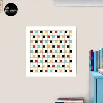 We LOVE the 80s - VINTAGE grid pattern Art Print