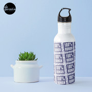 100% HUMAN - Distortion of Humanity Water Bottle