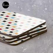 We LOVE the 80s - VINTAGE grid pattern Coasters (Set of 4)