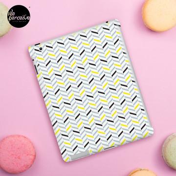 Geometric pattern - simple, black, grey, yellow iPad Case & Skin
