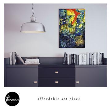 Collage art piece canvas print