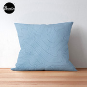 Psychology things - Maslow's HIERARCHY of NEEDS - Dark Blue Floor Pillow