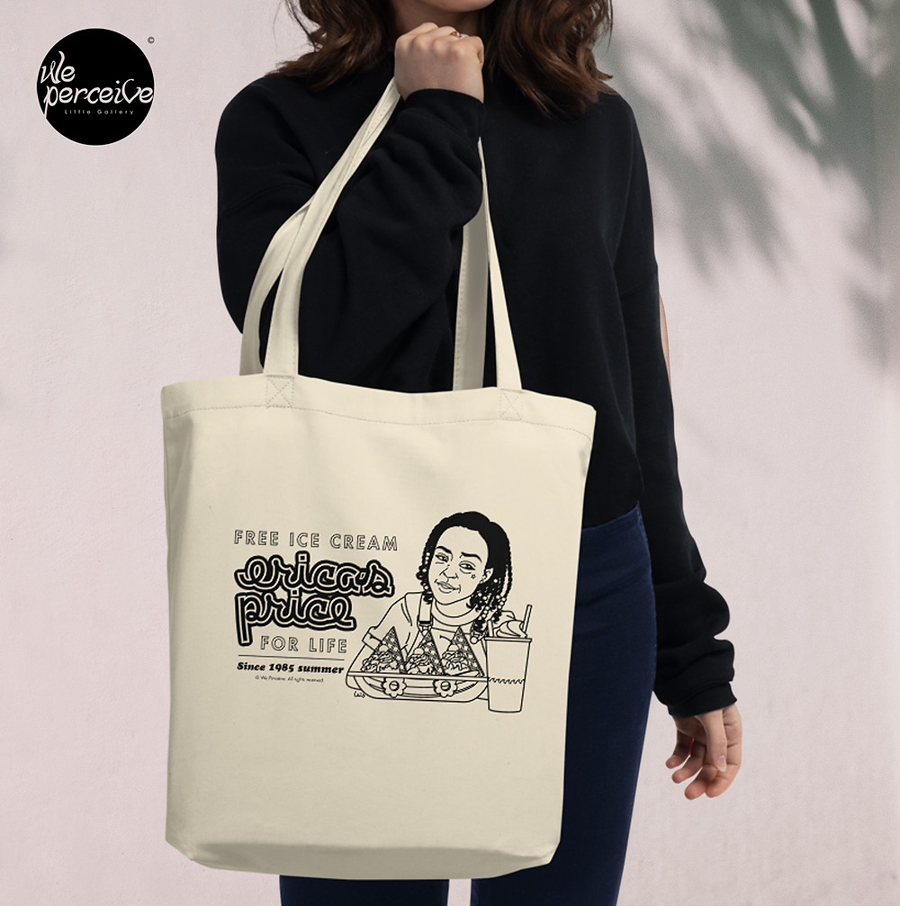 ECO Tote Bag with Vintage Illustration