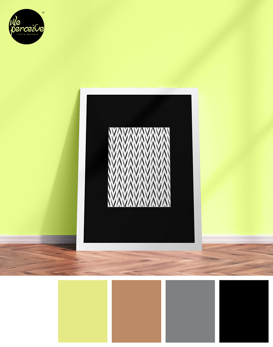 Minimal Framed Print with geometric pattern
