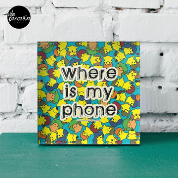 Welcome to SOCIAL MEDIA ERA - Where is my PHONE? Acrylic Block