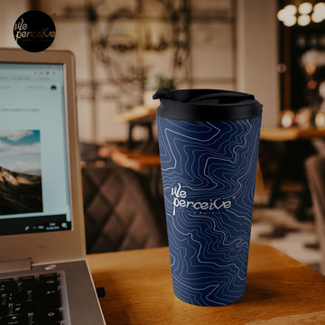 Psychology things - Maslow's HIERARCHY of NEEDS - Dark Blue Travel Mug