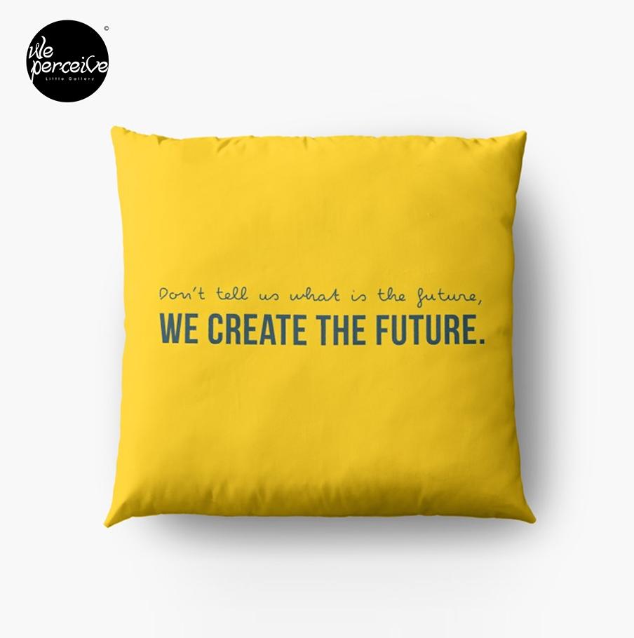 Yellow design cushion