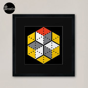 Geometric Cubes Framed Art Print