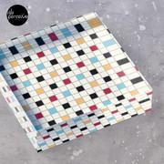 We LOVE the 80s - VINTAGE grid pattern Acrylic Block