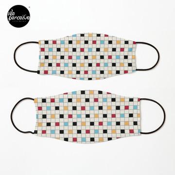 We LOVE the 80s - VINTAGE grid pattern Mask