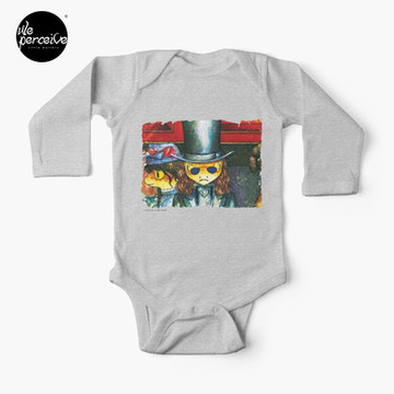 Movie inspired collection - Dracuzard - Count Dracula Baby One-Piece in heather grey