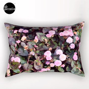Pink Flowers Rectangular Pillow