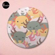 AXOLOTL WAVE - We are the CUTEST CREATURE in the Water World Pin