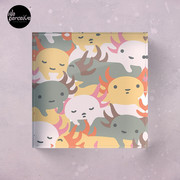 AXOLOTL WAVE - We are the CUTEST CREATURE in the Water World Acrylic Block