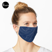 Psychology things - Maslow's HIERARCHY of NEEDS - Dark Blue Mask