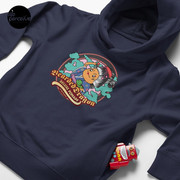 Bearded Dragon Deluxe Pomade Toddler Pullover Hoodie with Japanese Cartoon in dark blue
