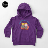 AXOLOTL WAVE Style 2 - We are the CUTEST CREATURE in the Water World Toddler Pullover Hoodie in Purple