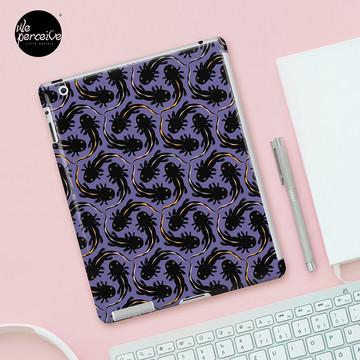 WE LOVE M.C. ESCHER style - Axolotl symmetrical pattern iPad Case & Skin