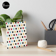 We LOVE the 80s - VINTAGE grid pattern Art Board Print
