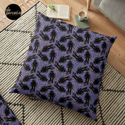 WE LOVE M.C. ESCHER style - Axolotl symmetrical pattern Floor Pillow