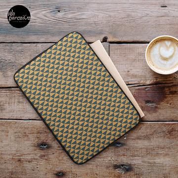 Egypt day and night geometric pattern laptop sleeve