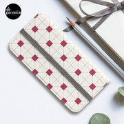 Hong Kong restaurant style - red and white VINTAGE floor tile iPhone Wallet