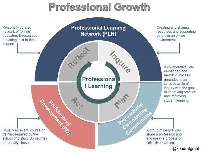 Professional Growth Diagram - long description available by following the link.