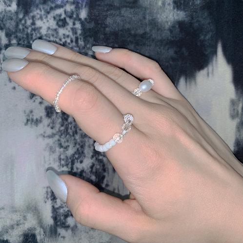 CC ceramic jewel ring
