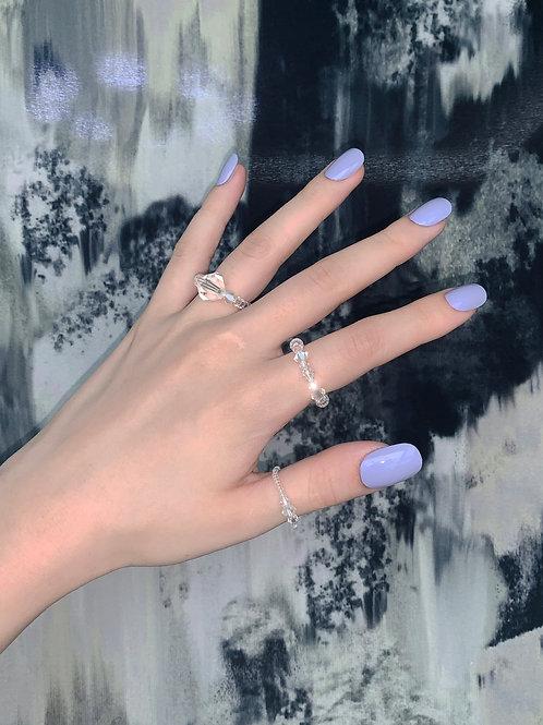 SI crystal bold ring