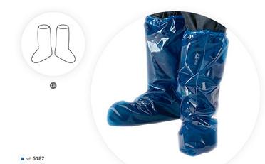 Cobre Sapatos e Botas Azul em Polietileno