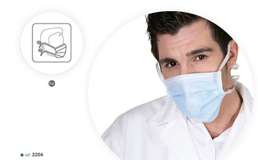 Máscaras Cirúrgicas em PP Azul