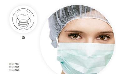 Máscara Cirúrgica em PP, Com Elástico