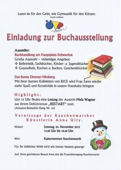 Buchausstellung + Lesung