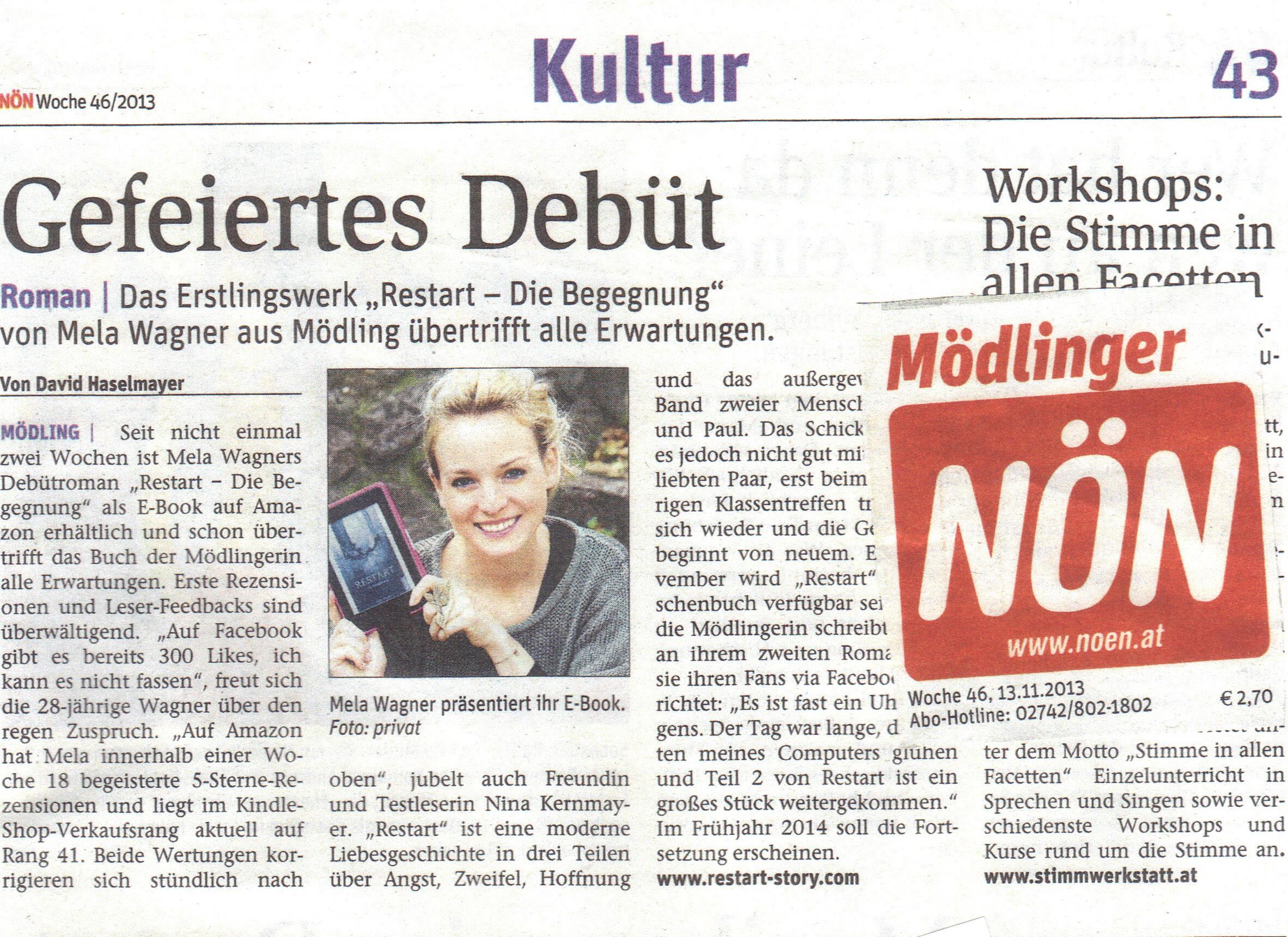 NÖN Zeitung 13. November 2013