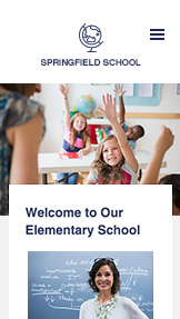 Education website templates – Elementary School
