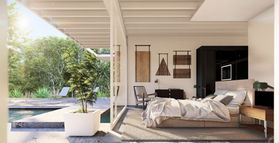 bedroom - half interior, half exterior.j