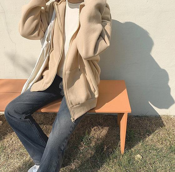 Forsythia zip-up hoodie