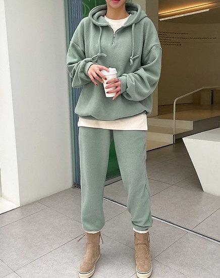Fleece hoodie+jogger set